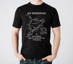 Schwarzes T-Shirt, historischer Nürburgring
