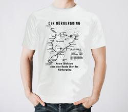 Weißes T-Shirt, historischer Nürburgring