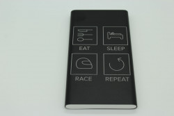 Powerbank 10000 mAh - Eat Sleep Race Repeat, Pink