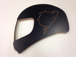 Helm mit Strecke nach Wahl