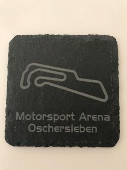 6er Set Motorsport Arena Oschersleben Schiefer Untersetzer