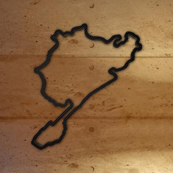 Nürburgring - Gesamtstrecke von 1927-1967 mit Carbonfolie
