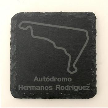 6er Set Autodromo Hermanos Rodriguez GP Circuit seit 2015 Schiefer Untersetzer