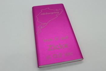 Powerbank 10000 mAh - Von 0 auf Zicke in 0,2 Sek, Pink