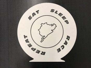Eat Sleep Race Repeat Deko