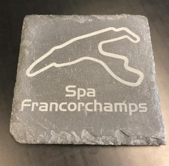 Spa Francorchamps Untersetzer aus Schiefer