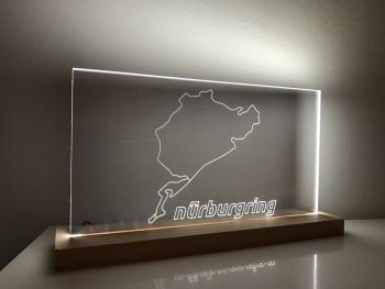 Lampe Nürburgring Gesamtstrecke mit offiziellen Nürburgring Schriftzug Layout 2