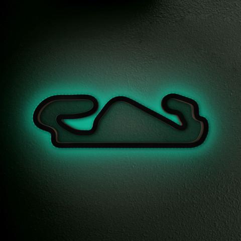 Circuit de Barcelona-Catalunya mit LED