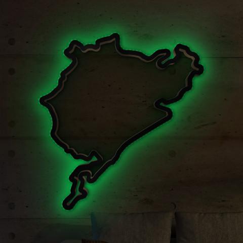 Nürburgring Gesamtstrecke mit LED