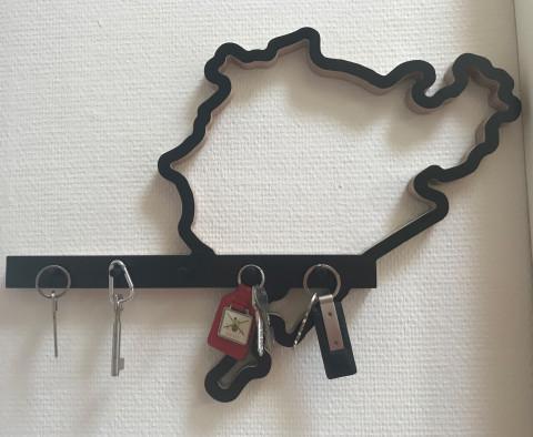 Schlüsselhalter mit Rennstrecke