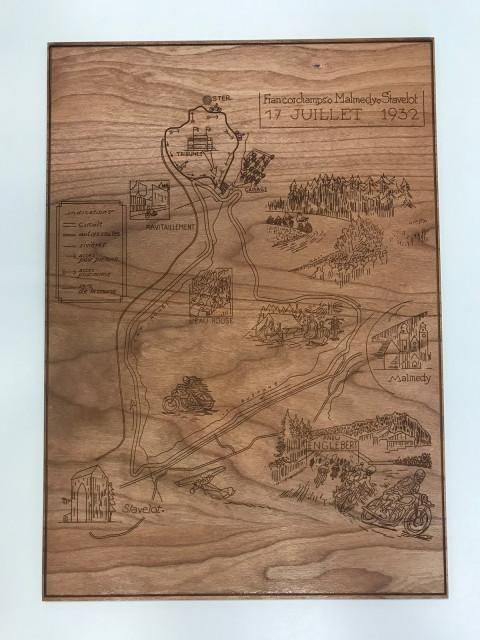Historisches Schild vom Francorchamps aus Holz