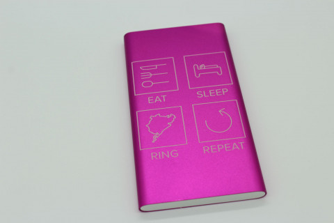 Powerbank 10000 mAh - Eat Sleep Ring Repeat, Pink