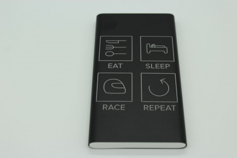 Powerbank 10000 mAh - Eat Sleep Race Repeat, Pink