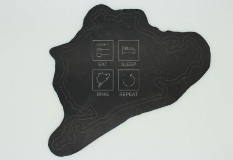 Frühstücksbrettchen aus Schiefer - Eat Sleep Ring Repeat
