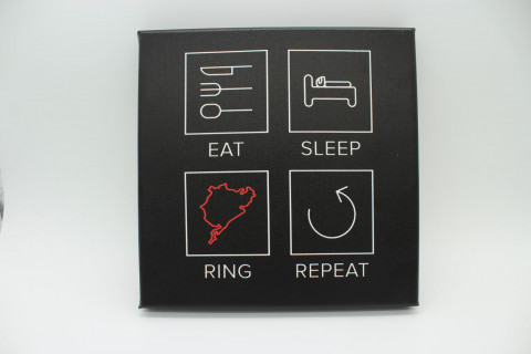 Eat Sleep Ring Repeat - Druck auf Leinwand