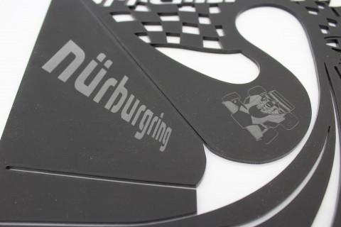 Wandtattoo Nürburgring aus 3mm Acryl