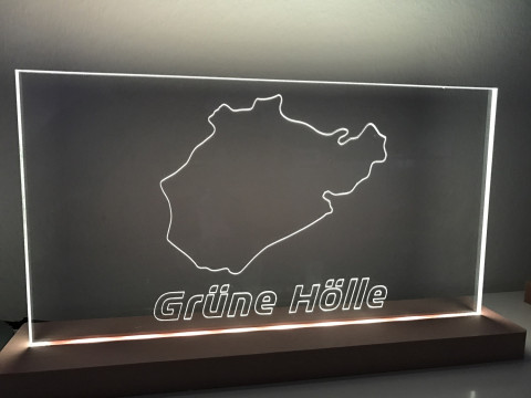 "Lampe Nürburgring ""Grüne Hölle"""