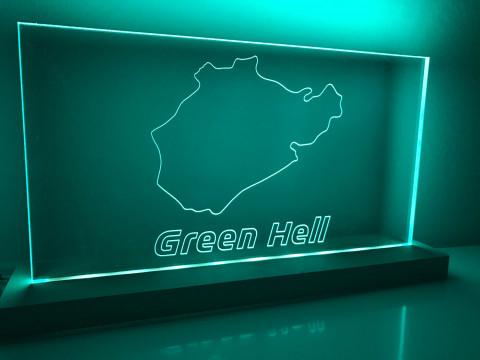 "Lampe Nordschleife ""Green Hell"""