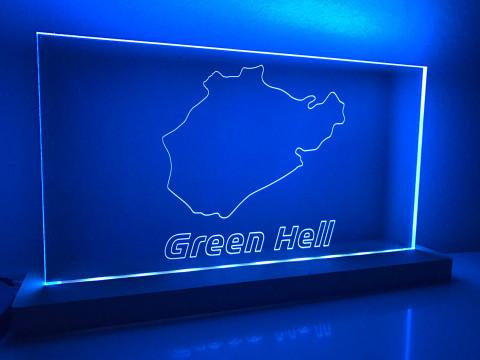"Lampe Nordschleife ""Green Hell"""