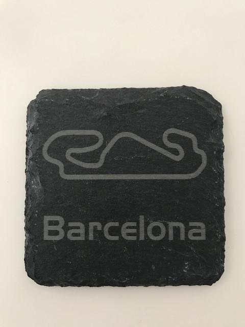 6er Set Barcelona Schiefer Untersetzer