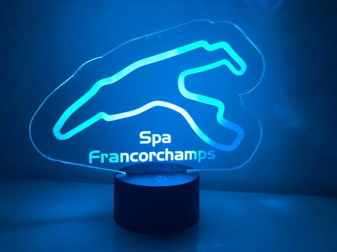 LED Lampe Spa Francorchamps