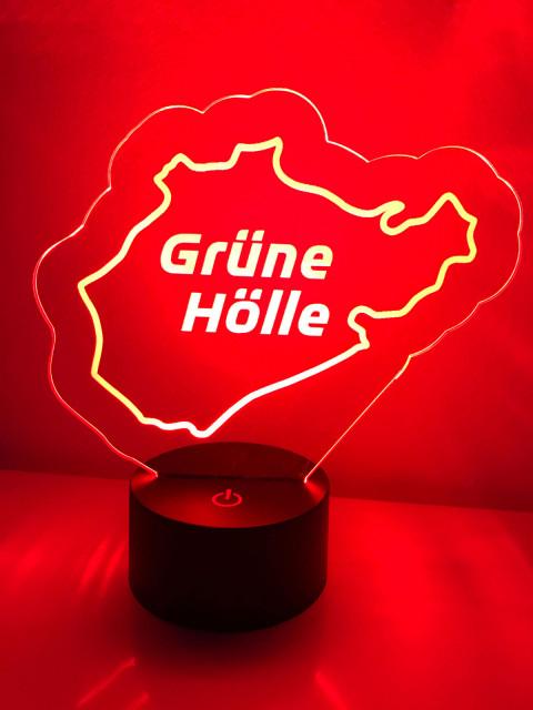 LED Lampe Grüne Hölle