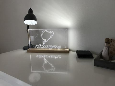 Lampe Nürburgring Gesamtstrecke mit offiziellen Nürburgring Schriftzug