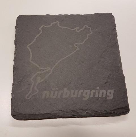 Nürburgring Untersetzer aus Schiefer