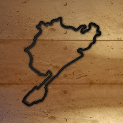 Nurburgring - complete track from 1927-1967 with carbon foil