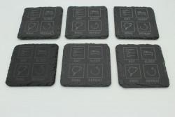 Set of 6 Eat Sleep Ring Repeat slate coasters