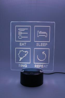 LED Lamp - Eat Sleep Ring Repeat