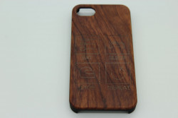 Real Wood Mobile Phone Case for Apple Phones - Eat Sleep Race Repeat