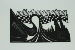 Wall Tattoo Nürburgring made of 3mm acrylic