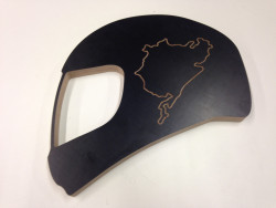 Helmet with Race Track of your Choice
