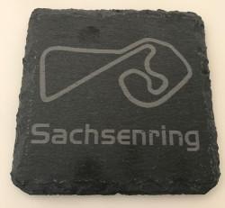 Set of 6 Sachsenring slate coasters