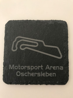 Set of 6 Motorsport Arena Oschersleben slate coasters