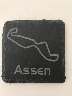Set of 6 Assen slate coasters