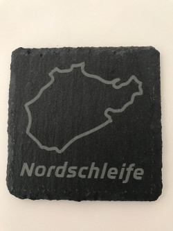 Set of 6 Nordschleife slate coasters