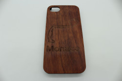 Real Wood Mobile Phone Case for Apple Phones - Track of your Choice