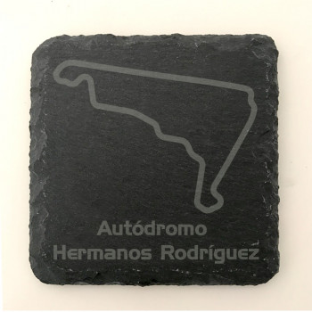 Set of 6 Autodromo Hermanos Rodriguez GP Circuit since 2015 slate coasters