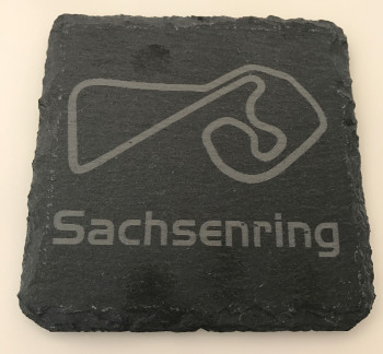 Set of 6 Sachsenring slate coasters