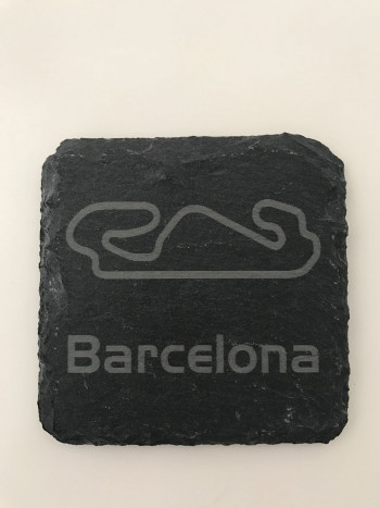 Set of 6 Barcelona slate coasters