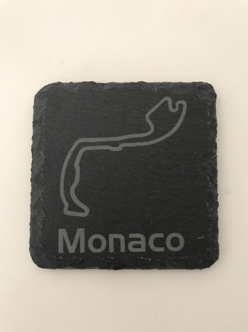 Set of 6 Monaco slate coasters