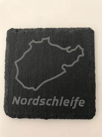 Set of 6 Nordschleife slate coasters