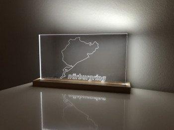 Lamp Nürburgring full circuit with official Nürburgring lettering Layout 2