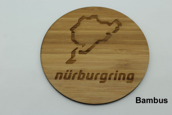 Set of 4 wooden coasters - engraving with track of choice