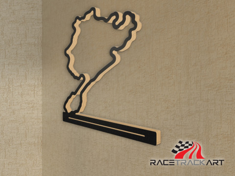 Key Holder with Nurburgring - complete track from 1927-1967