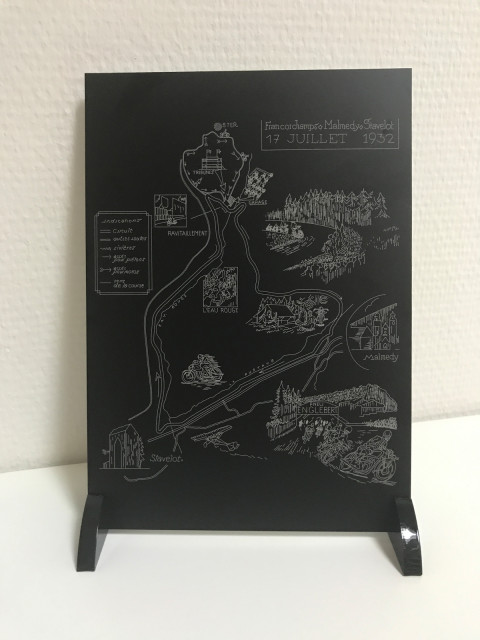 Historic sign from the Spa Francorchamps on aluminum