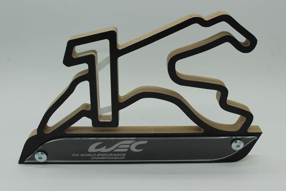 WEC Pokal acryl schwarz